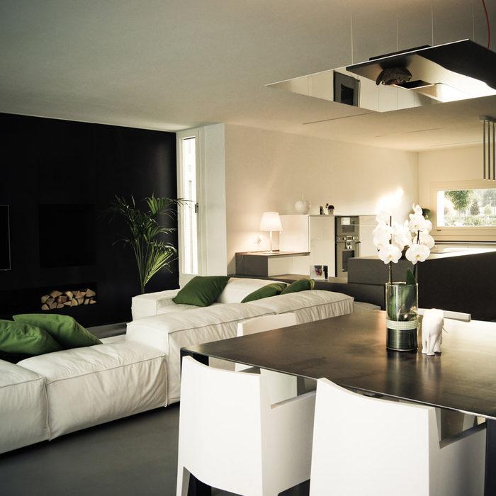 Villa con piscina a Costabissara - openspace soggiorno e cottura