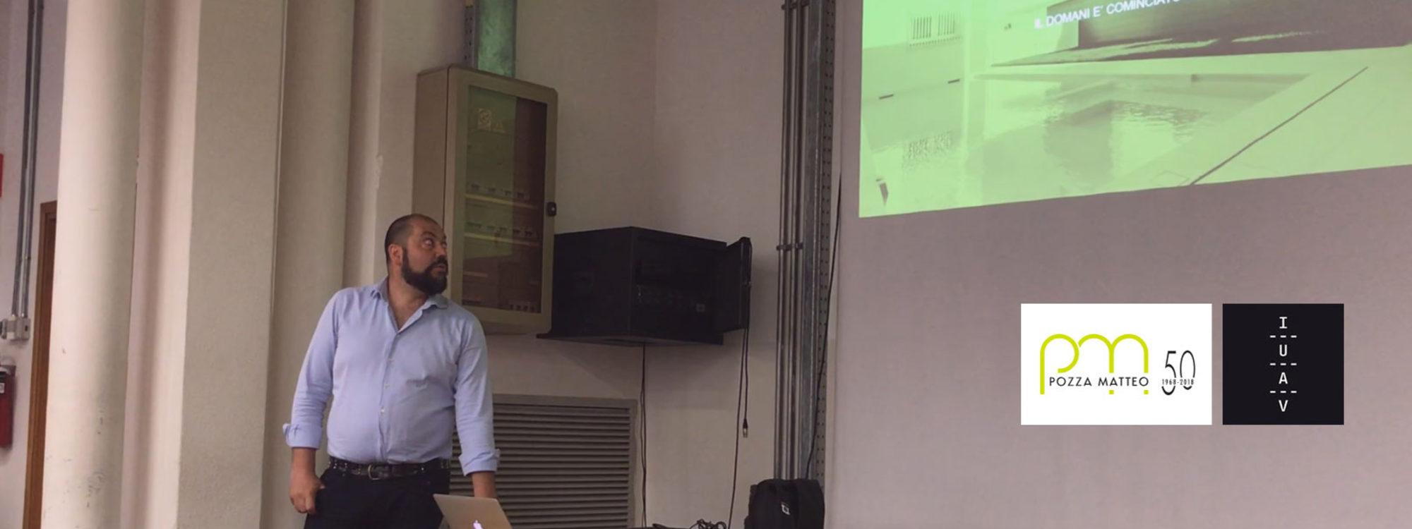 Claudio Pozza incontra gli studenti di architettura dello IUAV di Venezia