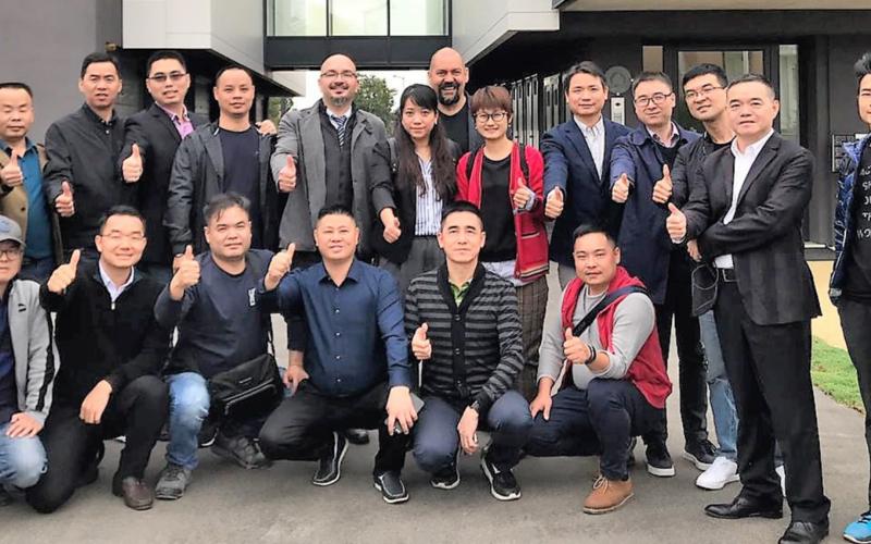 Delegazione cinese in visita al Leonardo da Vinci