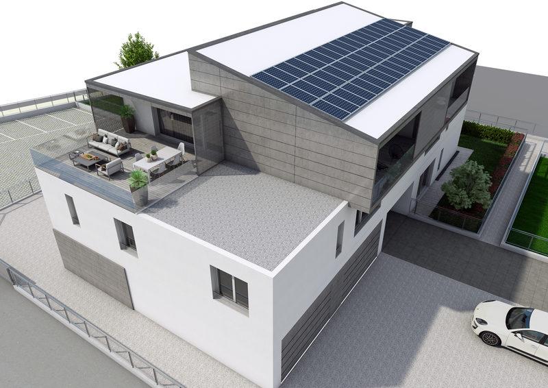 Sistema architettonico flessibile - Condominio Guglielmo Marconi - Costabissara (VI)