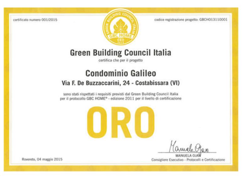 Primo edificio certificato gbc
