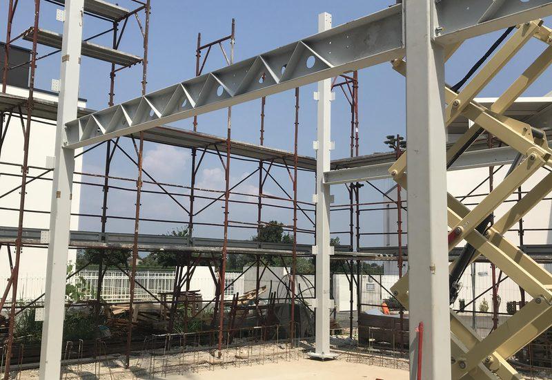 Luglio 2019 - Posa della struttura portante in acciaio
