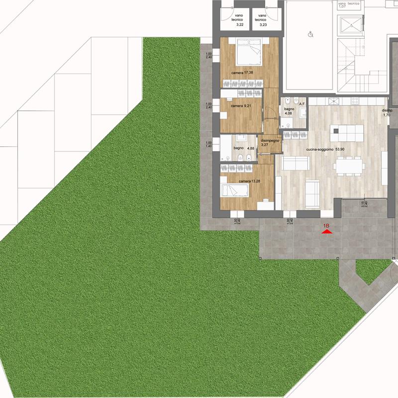 Appartamento indipendente a piano terra con grande giardino - Residence Leonardo Da Vinci - Costabissara (Vicenza)